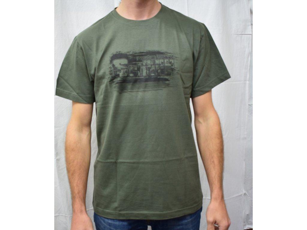 Pánské tričko Scharf s krátkým rukávem khaki