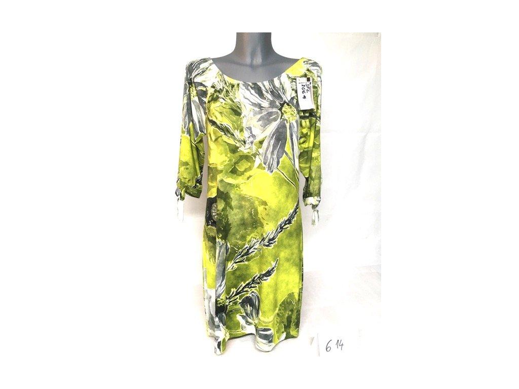 Dámské letní šaty volné zelené