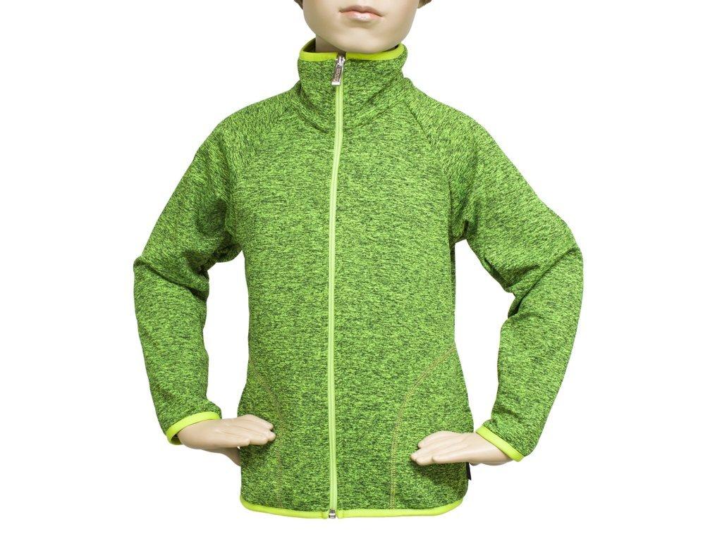 Funkční mikina zelenožlutá