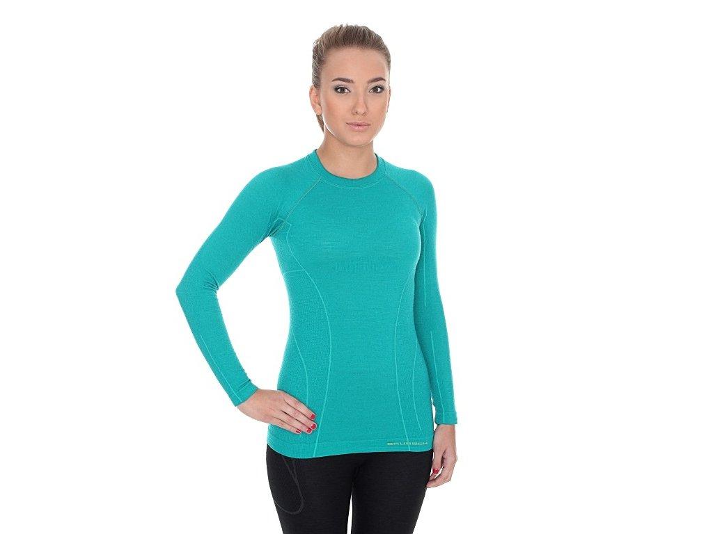 Dámské Active wool tričko s dlouhým rukávem Emerald
