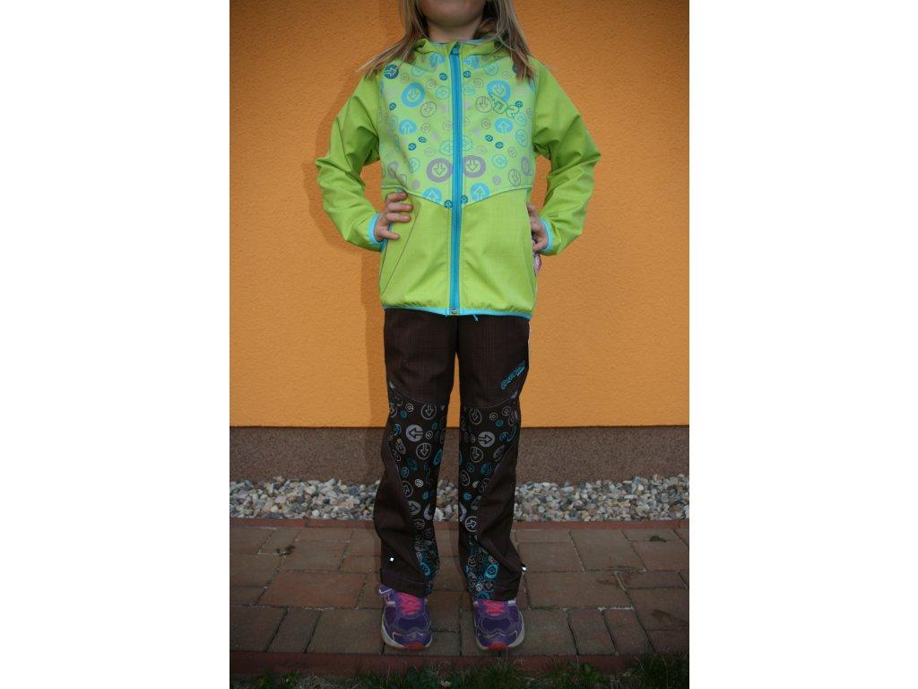 Dětské softshellové kalhoty Hnědá tyrkys