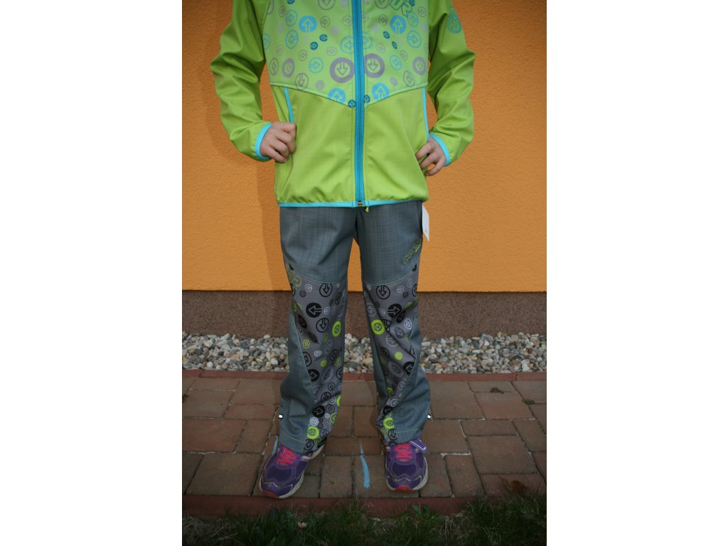 Dětské softshellové kalhoty Grey lime