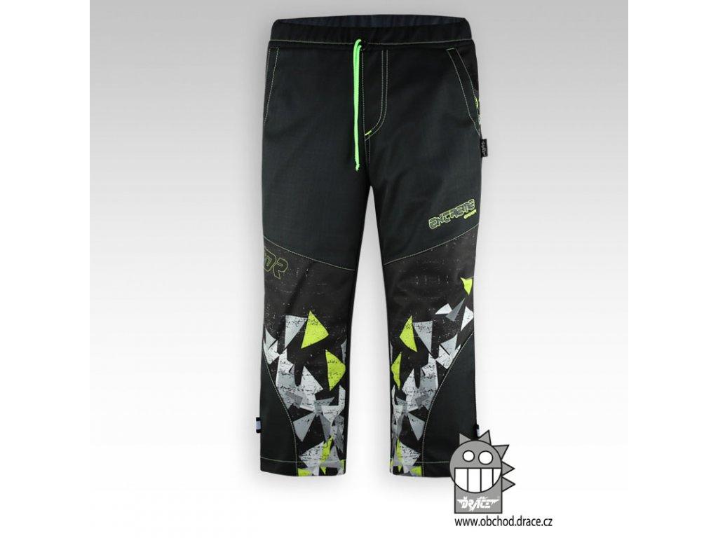 Dětské softshellové kalhoty Antracit 3lime
