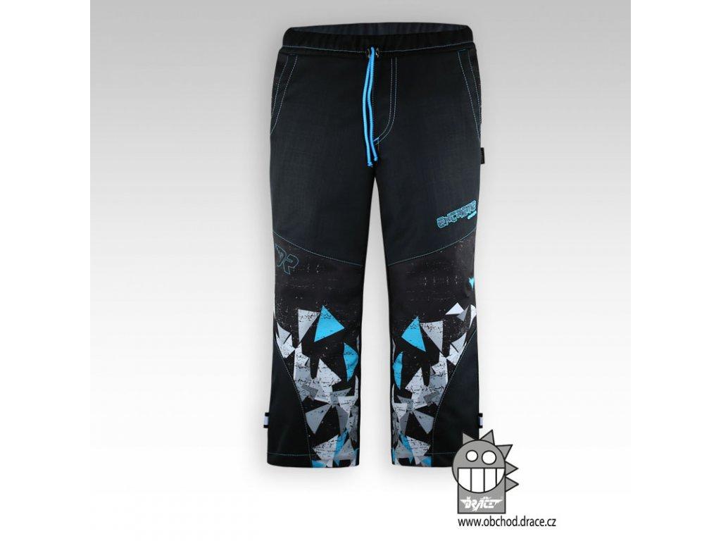 Dětské softshellové kalhoty Antracit 3tyrkys