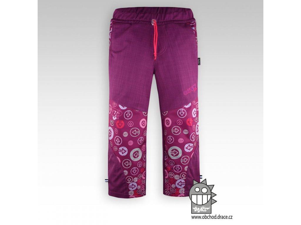 Dětské softshellové kalhoty Pink
