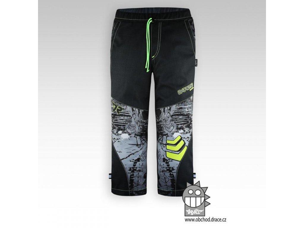 Dětské softshellové kalhoty Antracit šipkapink