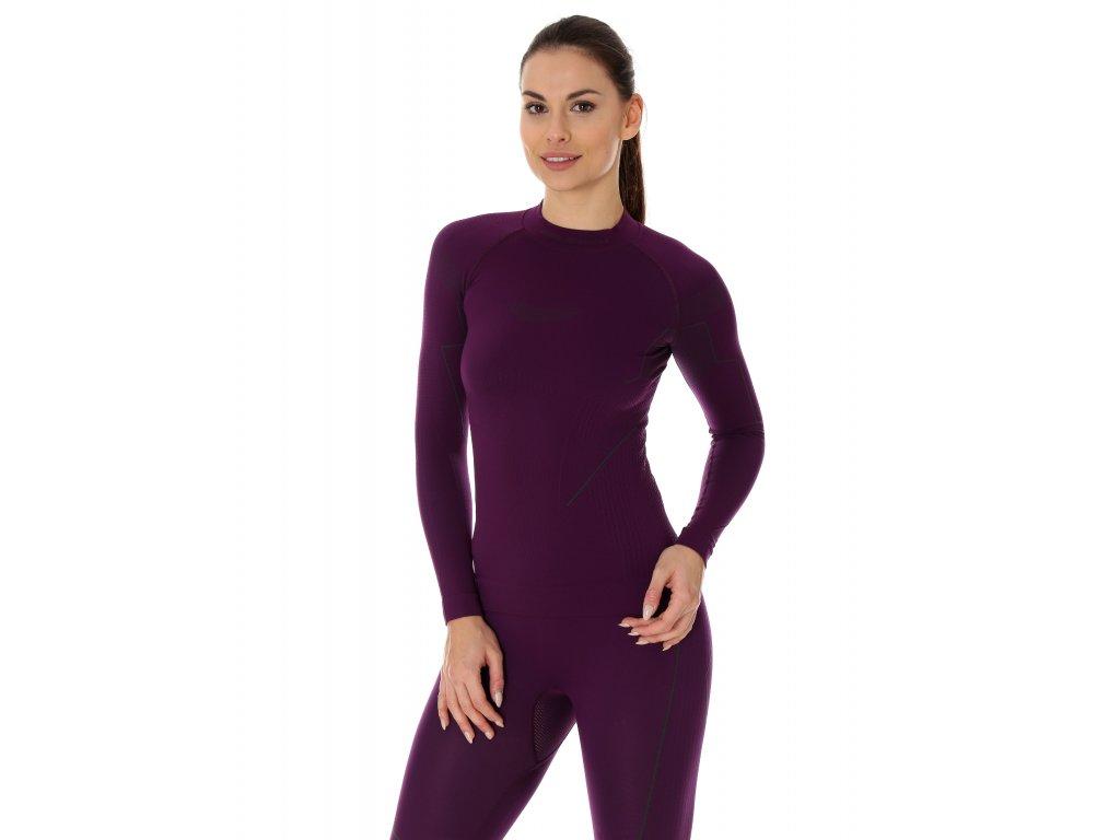 Brubeck dámské tričko s dlouhým rukávem Thermo fialové