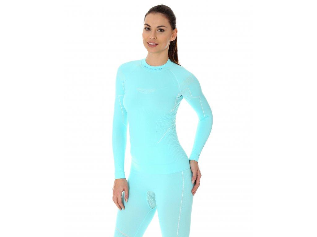 Brubeck dámské tričko s dlouhým rukávem Thermo light blue
