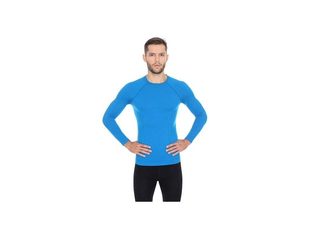 Pánské tričko Active wool s dlouhým rukávem Blue