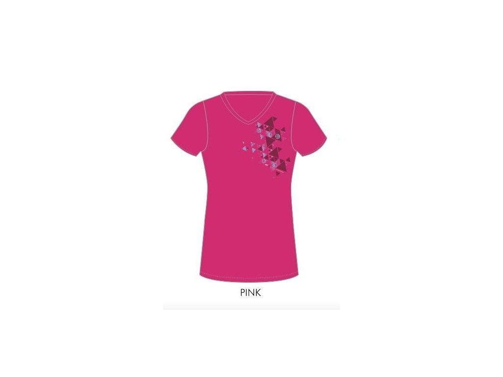 Dámské bavlněné triko GTS růžové