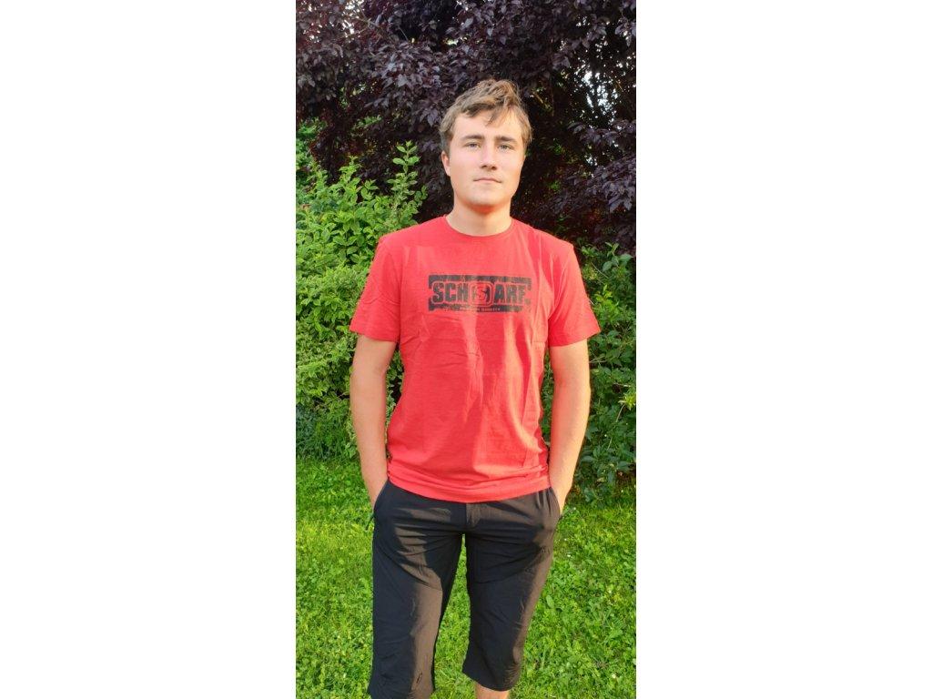 Pánské tričko Scharf s krátkým rukávem organická bavlna red
