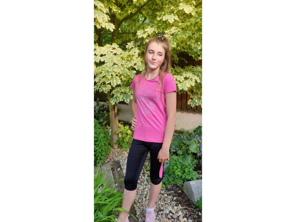 Dámské triko Scharf s krátkým rukávem růžové