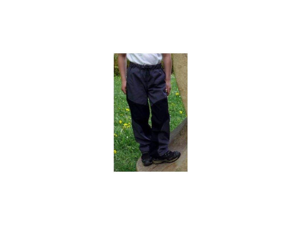 Dětské bavlněné kalhoty Fantom černá/šedá