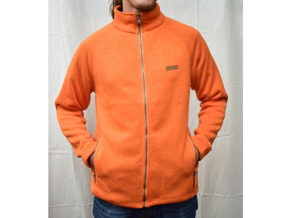 Pánský sportovní svetr lavově oranžový