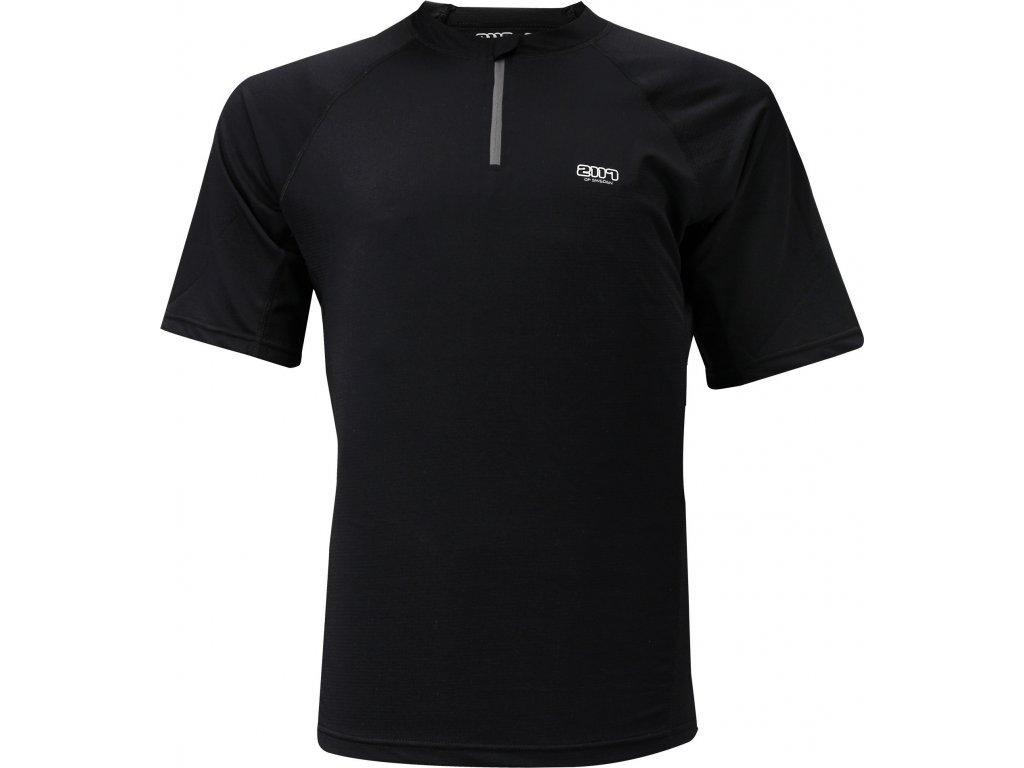 Pánské běžecké triko Akka SS 1/2 zip