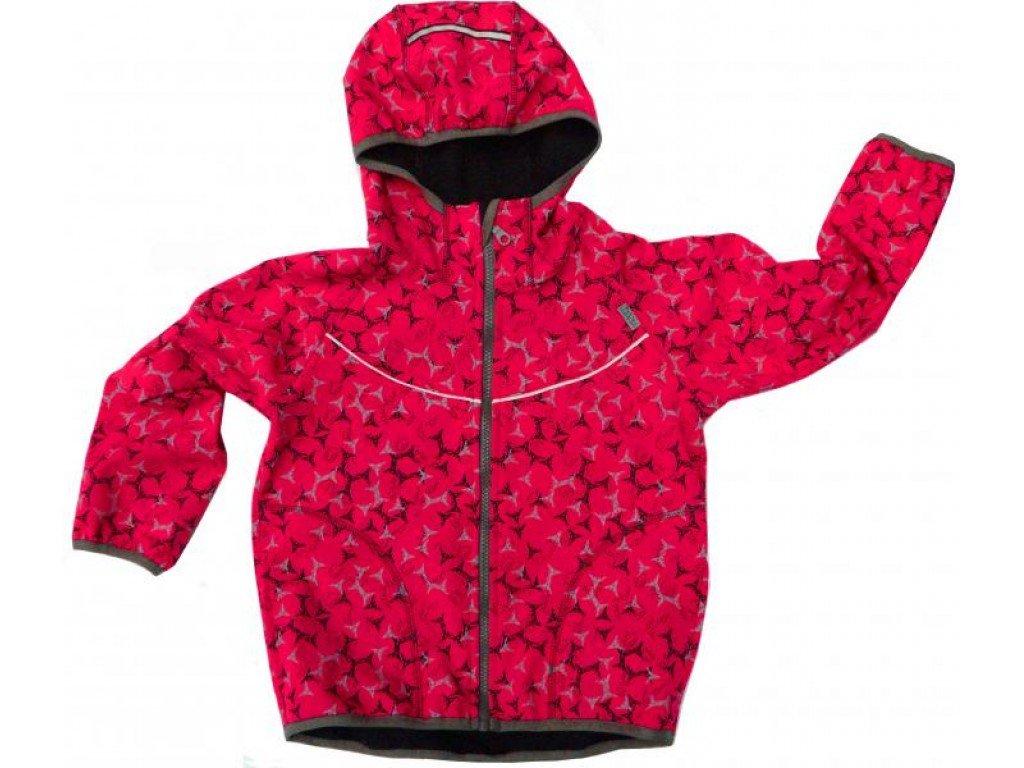 Dětská softshellová bunda Fantom růžováprint