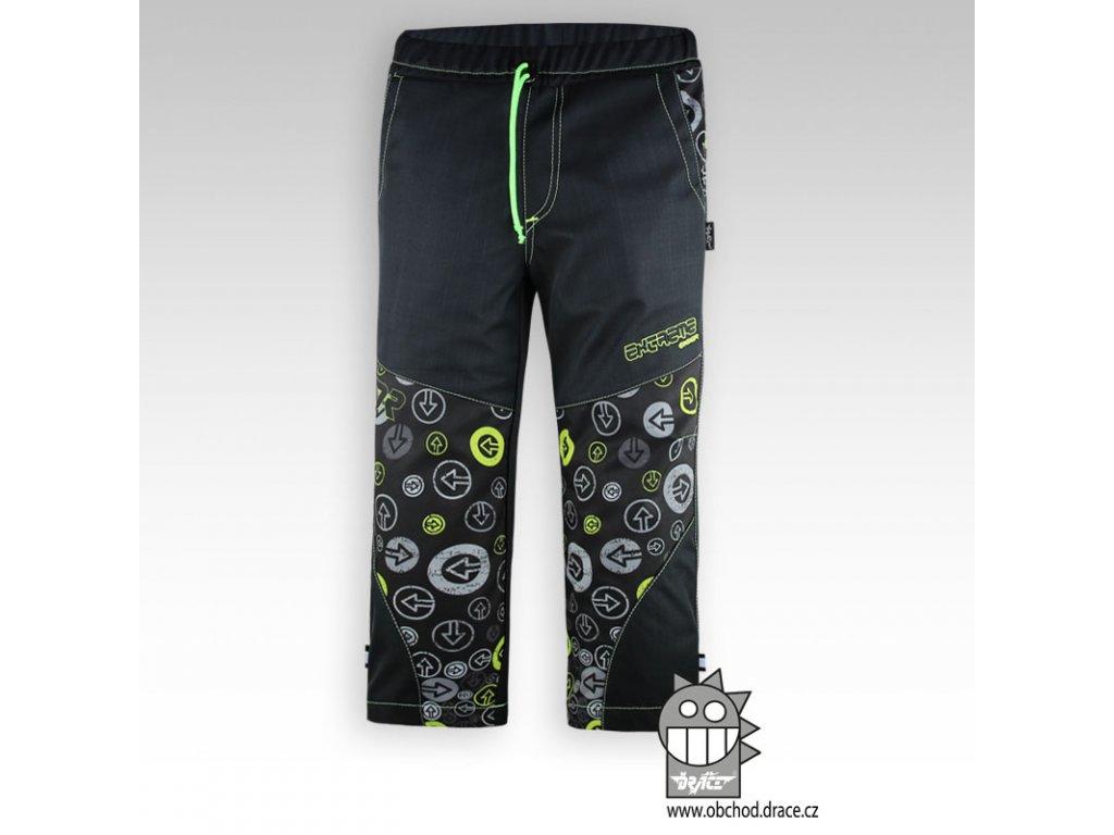 Dětské softshellové kalhoty Antracit lime