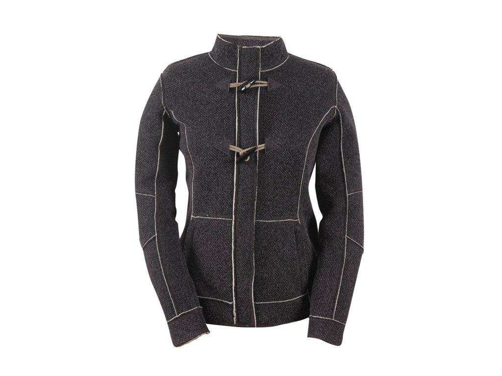 Bunda street wool like TRANUM dámský grey melange
