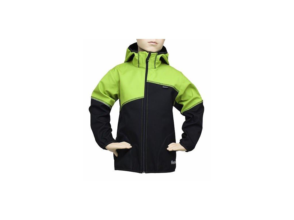 Dětská bunda Fantom SOFTSHELL dvoubarevná černo/zelená Velikost dětská: 104