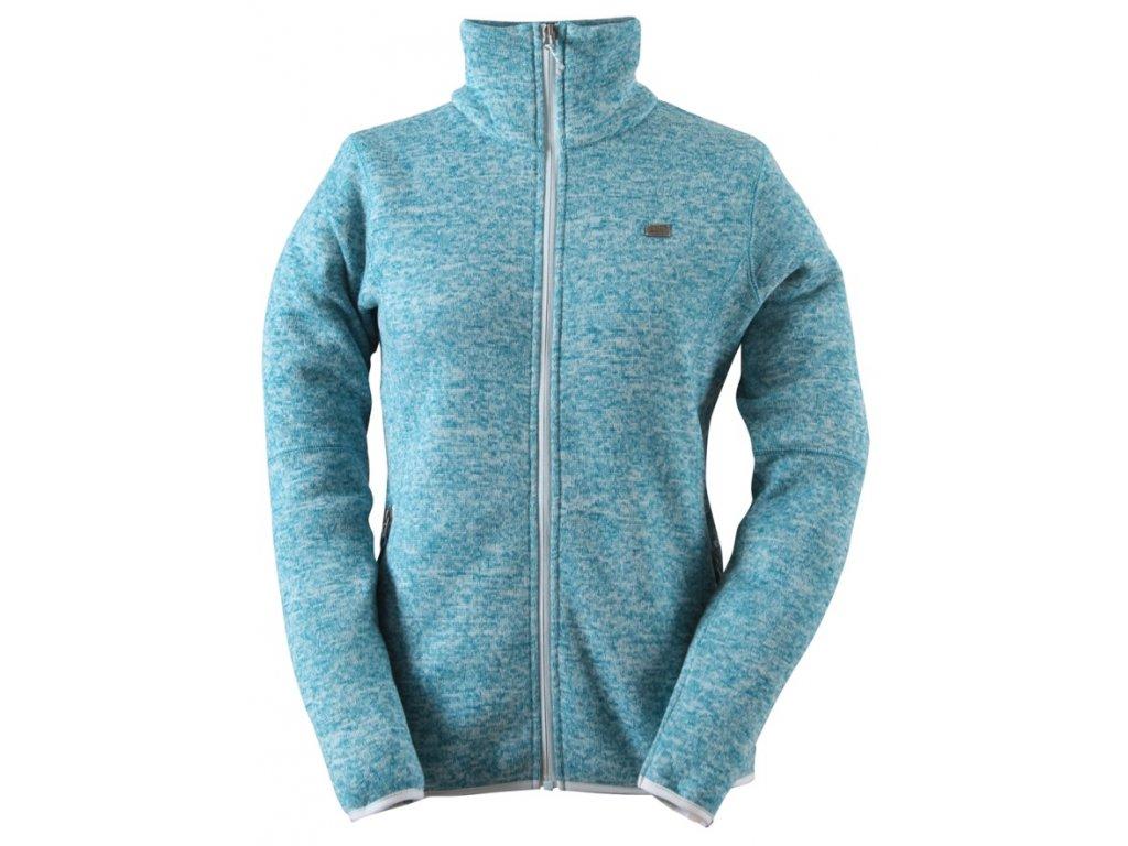 Dámský sportovní svetr TOBO tyrkysový