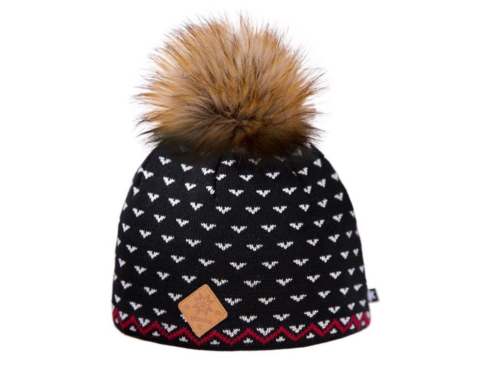 Pletená čepice Merino KAMA A105