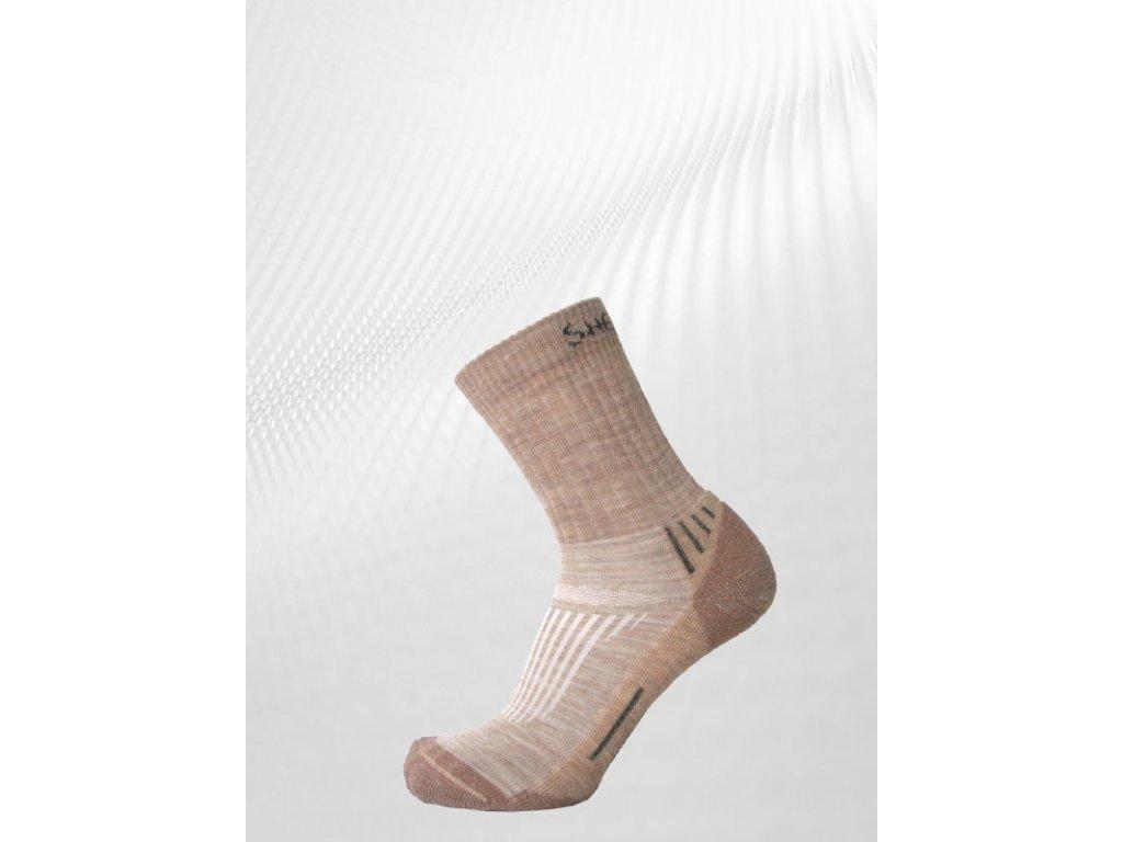 Ponožky JUNCAL hnědé velikost ponožky: 39-42