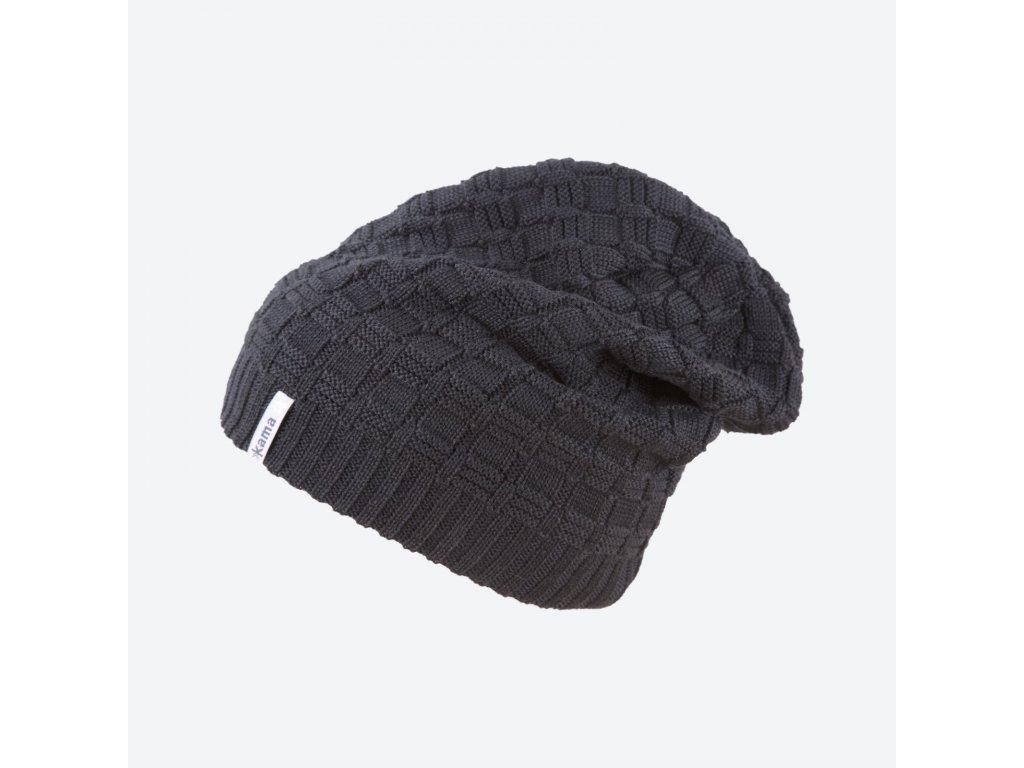 Pletená čepice Merino KAMA A123