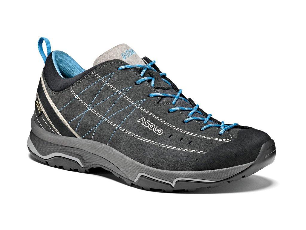 Boty Nucleon GV ML graphite/silver/cyan blue Velikost obuv dámská: 4