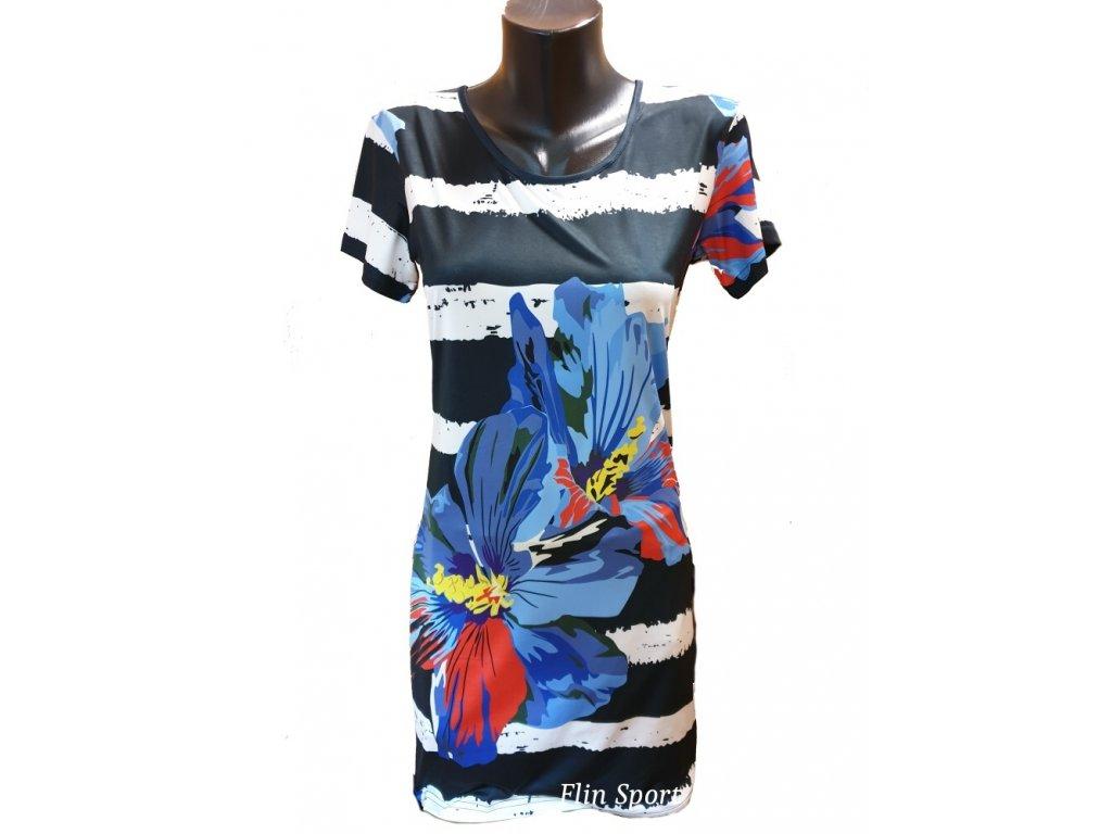 Dámské letní šaty s květinovým potiskem