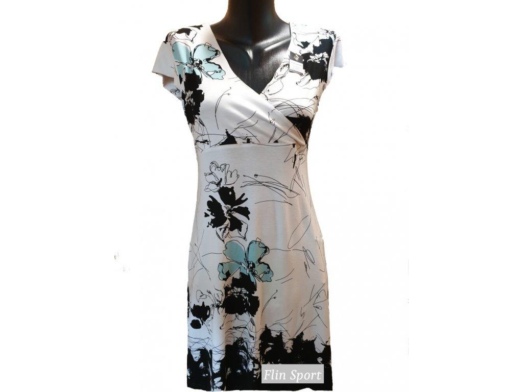 Dámské letní šaty s modrými květy