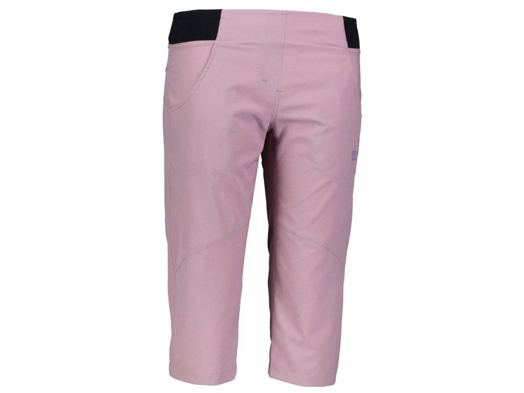Dámské outdoorové 3/4 kalhoty NBSPL6646 starorůžové