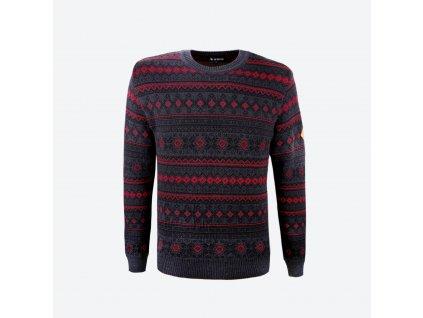 Pánský svetr s merino KAMA 4057