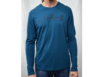 Pánské tričko Scharf  s dlouhým rukávem petrol