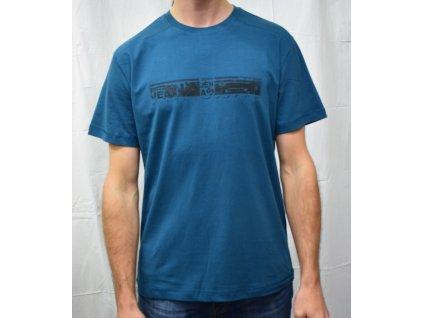 Pánské tričko Scharf s krátkým rukávem petrol slim