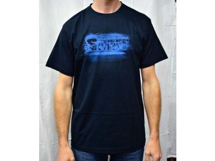Pánské tričko Scharf s krátkým rukávem navy