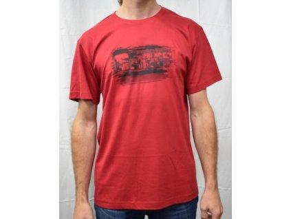 Pánské tričko Scharf s krátkým rukávem bordó
