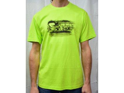 Pánské tričko Scharf s krátkým rukávem limetka