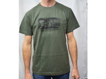 Pánské tričko Scharf s krátkým rukávem břidlice