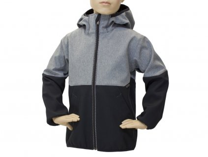 Dětská softshellová bunda Fantom dvoubarevná černošedá