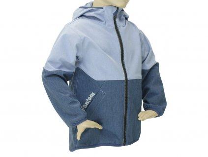 Dětská softshellová bunda Fantom dvoubarevná šedomodrá