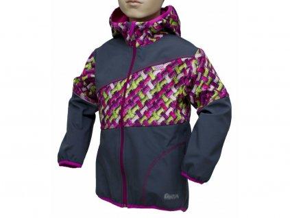 Dětská softshellová bunda Fantom dvoubarevná šedácopy