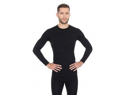 Pánské tričko Active wool s dlouhým rukávem black