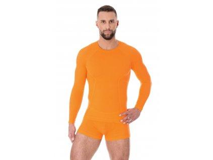 Pánské tričko Active wool s dlouhým rukávem orange