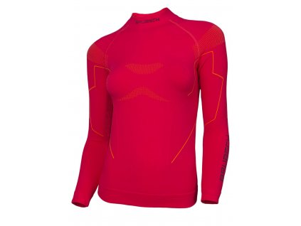 Brubeck dámské tričko s dlouhým rukávem Thermo raspberry