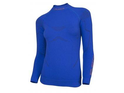 Brubeck dámské tričko s dlouhým rukávem Thermo modré