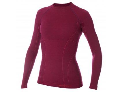 Dámské Active wool tričko s dlouhým rukávem Plum