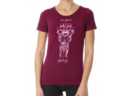 Brubeck dámské tričko krátký rukáv Outdoor wool lapač snů