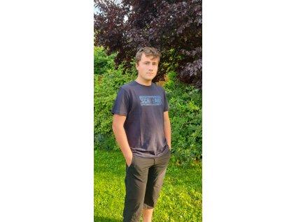 Pánské tričko Scharf s krátkým rukávem organická bavlna navy