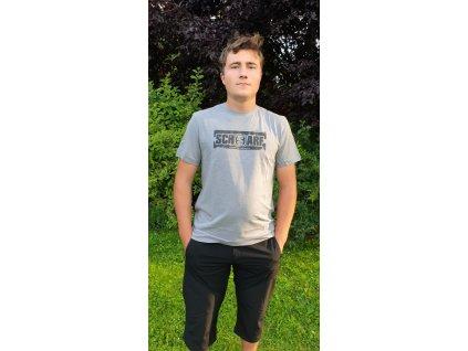 Pánské tričko Scharf s krátkým rukávem organická bavlna grey