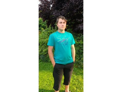 Pánské tričko Scharf s krátkým rukávem střední logo emerald